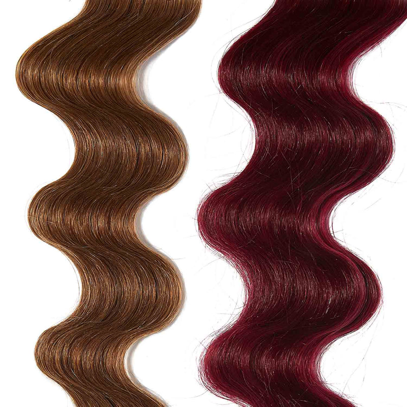 dark pink hair color for brown on light brown hair