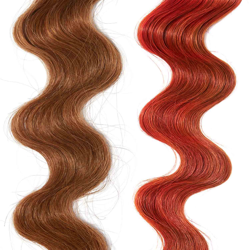 deep orange hair color for brown on red hair