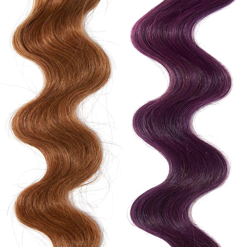 amethyst purple hair color for brown on red hair