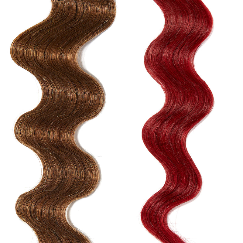 dark red hair color for brown on light brown hair