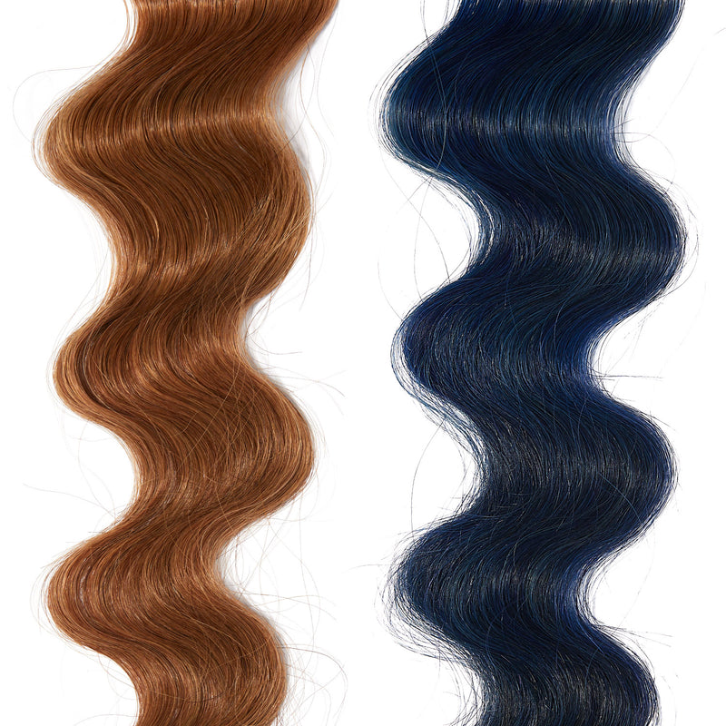 electric blue hair color on red hair