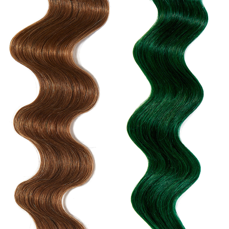 emerald green hair color on light brown hair