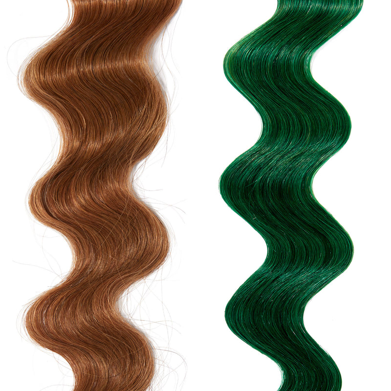 emerald green hair color on red hair