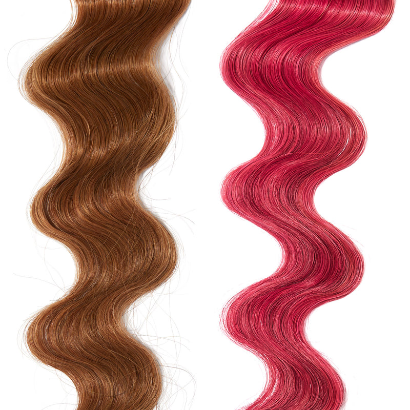extreme pink hair color on red hair