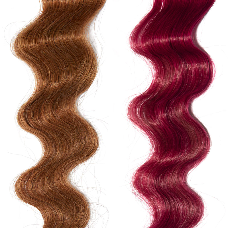 magenta pink hair color on red hair