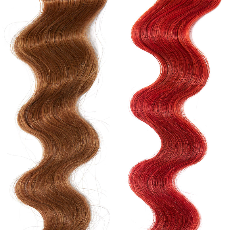 bright orange hair color on red hair