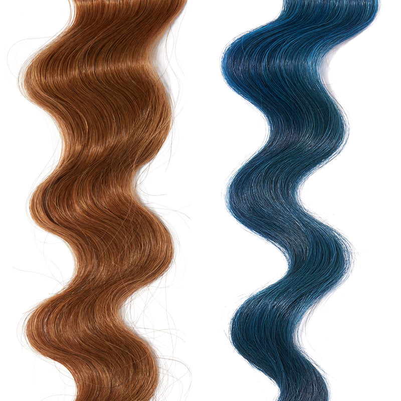 teal hair color on red hair