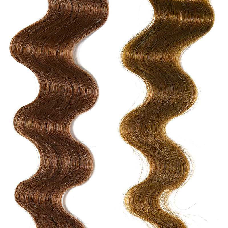 yellow gold hair color on light brown hair