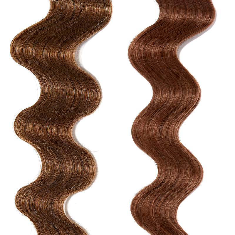 pastel red hair color on light brown hair