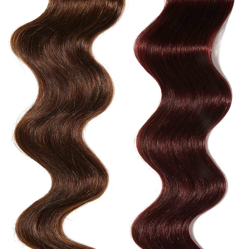 rose gold hair color for brown on medium brown hair