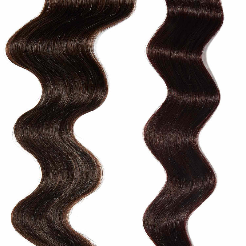 rose gold hair color for brown on dark brown hair