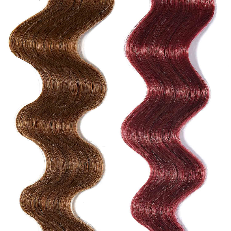 rose gold hair color for brown on light brown hair