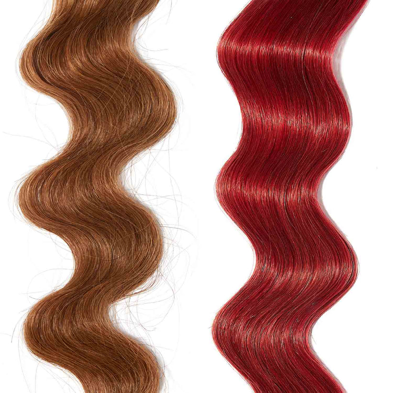 rose gold hair color for brown on red hair