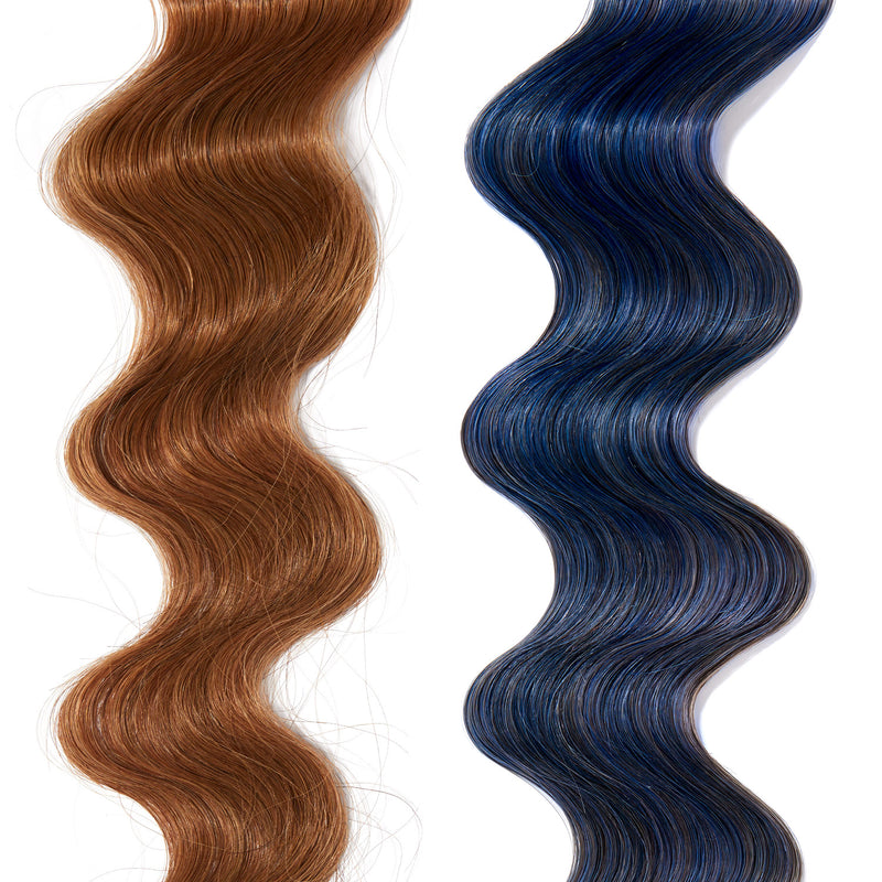 blue hair color on red hair