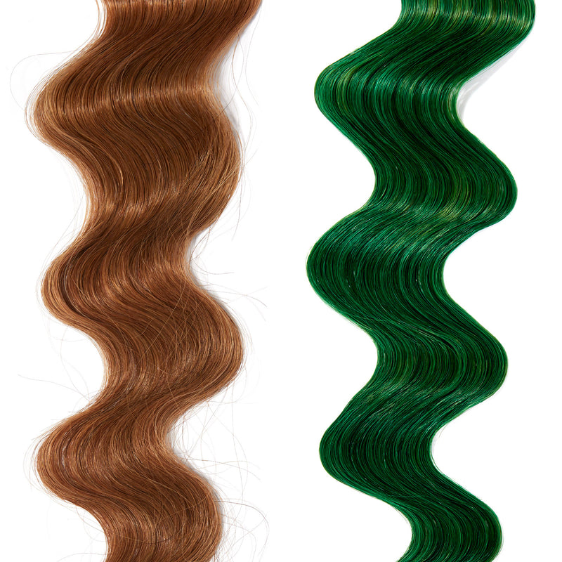 bright green hair color on red hair