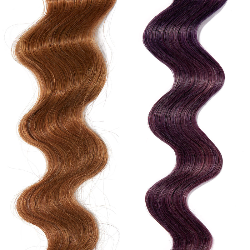 violet purple hair color on red hair