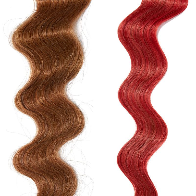 bright red hair color on red hair
