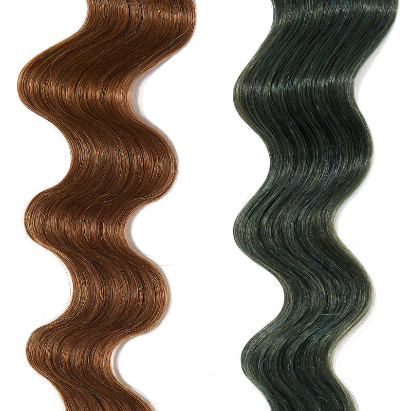 turquoise hair color on light brown hair