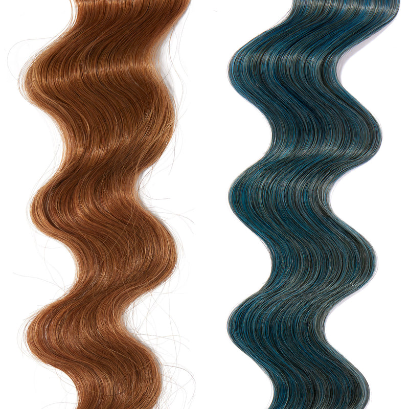 turquoise hair color on red hair