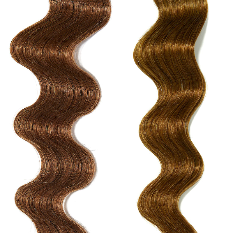 bright yellow hair color on light brown hair