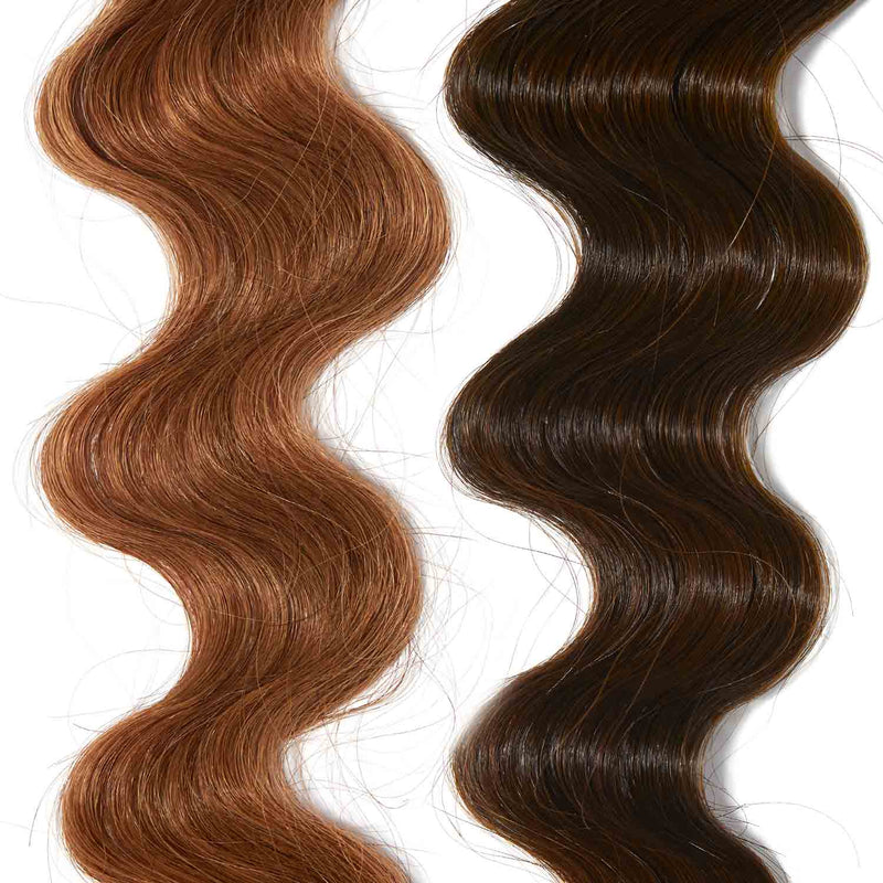warm brown hair color on red hair