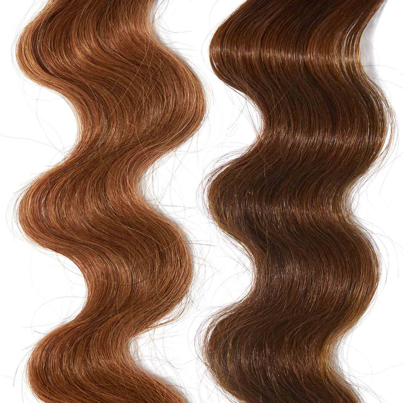 light brown hair color on red hair