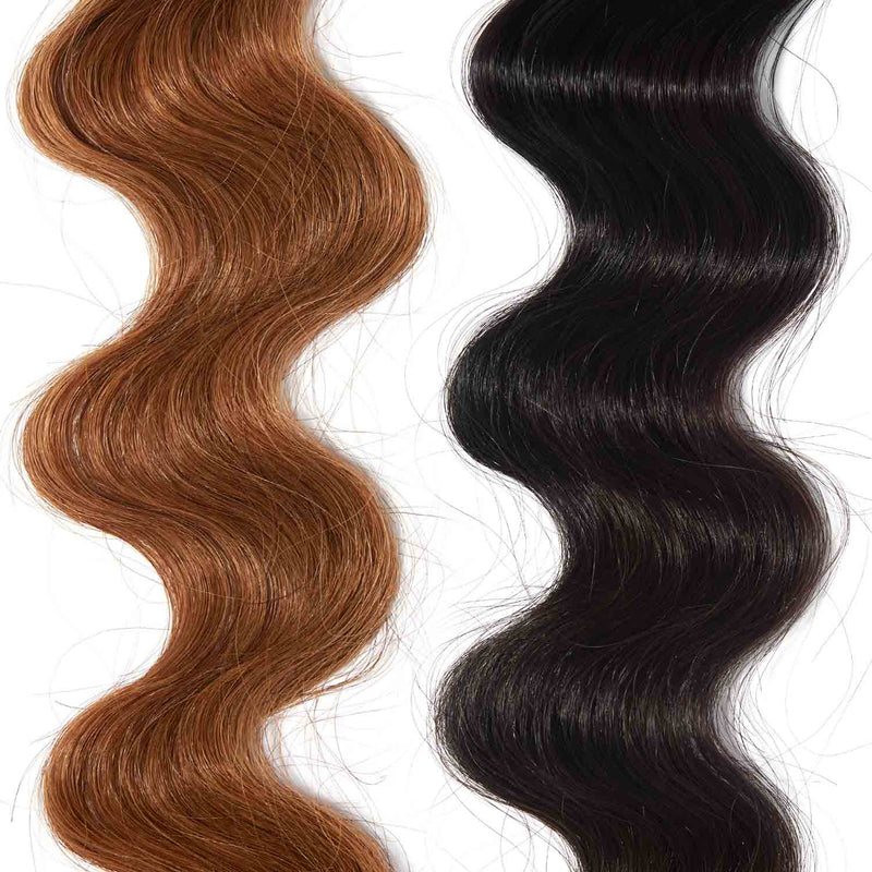 black hair color on red hair