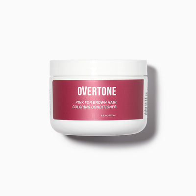 oVertone Pink for Brown Hair Coloring Conditioner