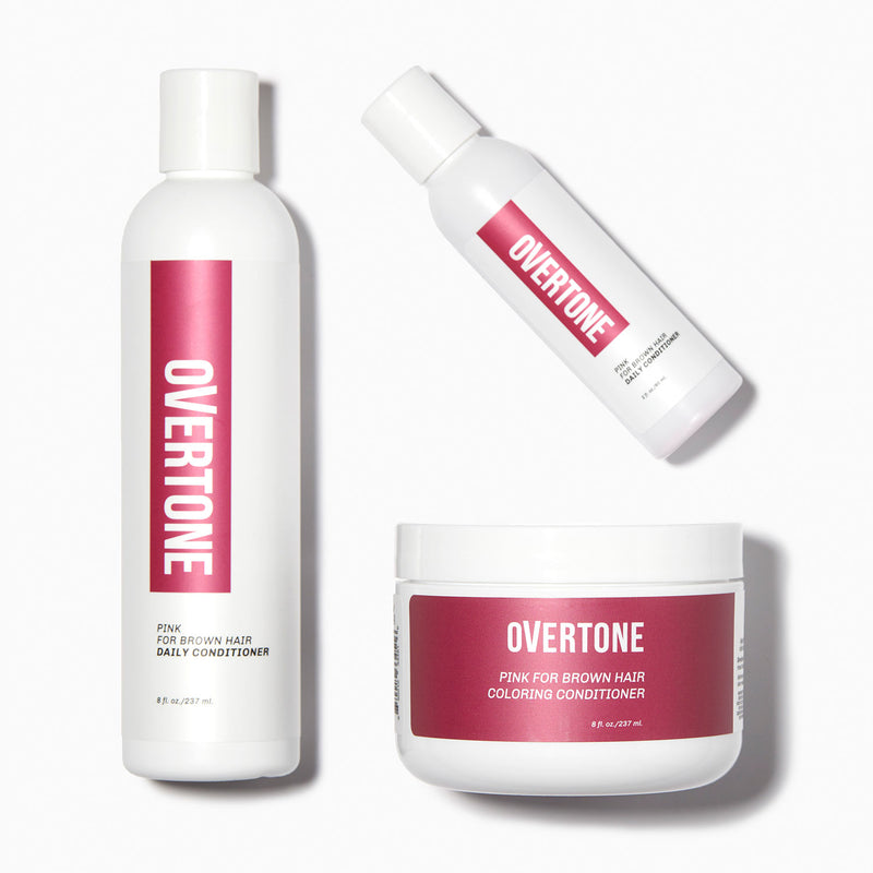 oVertone Pink for Brown Hair Complete System