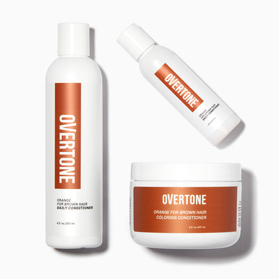oVertone Orange For Brown Hair Complete System