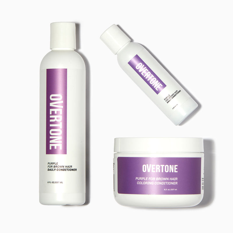 oVertone Purple for Brown Hair Complete System