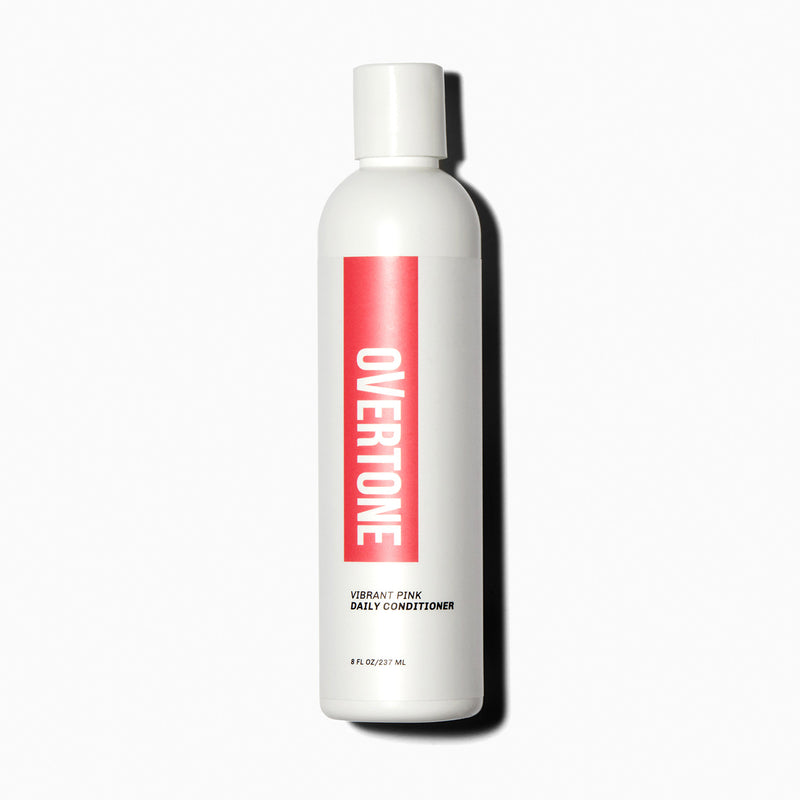 oVertone Vibrant Pink Daily Conditioner hair color
