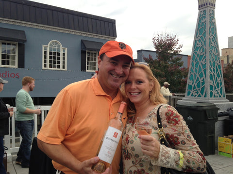 Jack Steffen with a lady who loves Ousterhout Rosé at the Decatur Wine Festival 11/2014