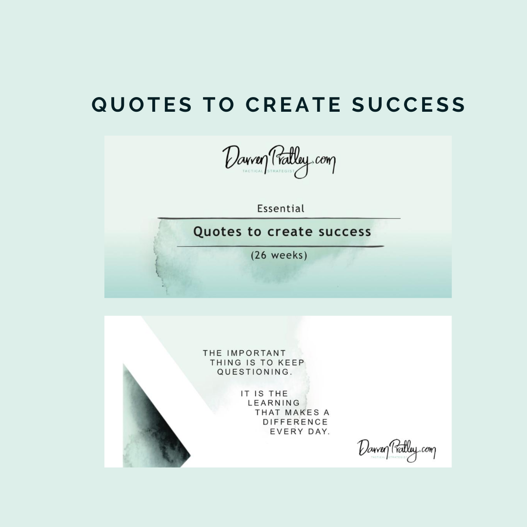 Quotes to Create Success Calendar