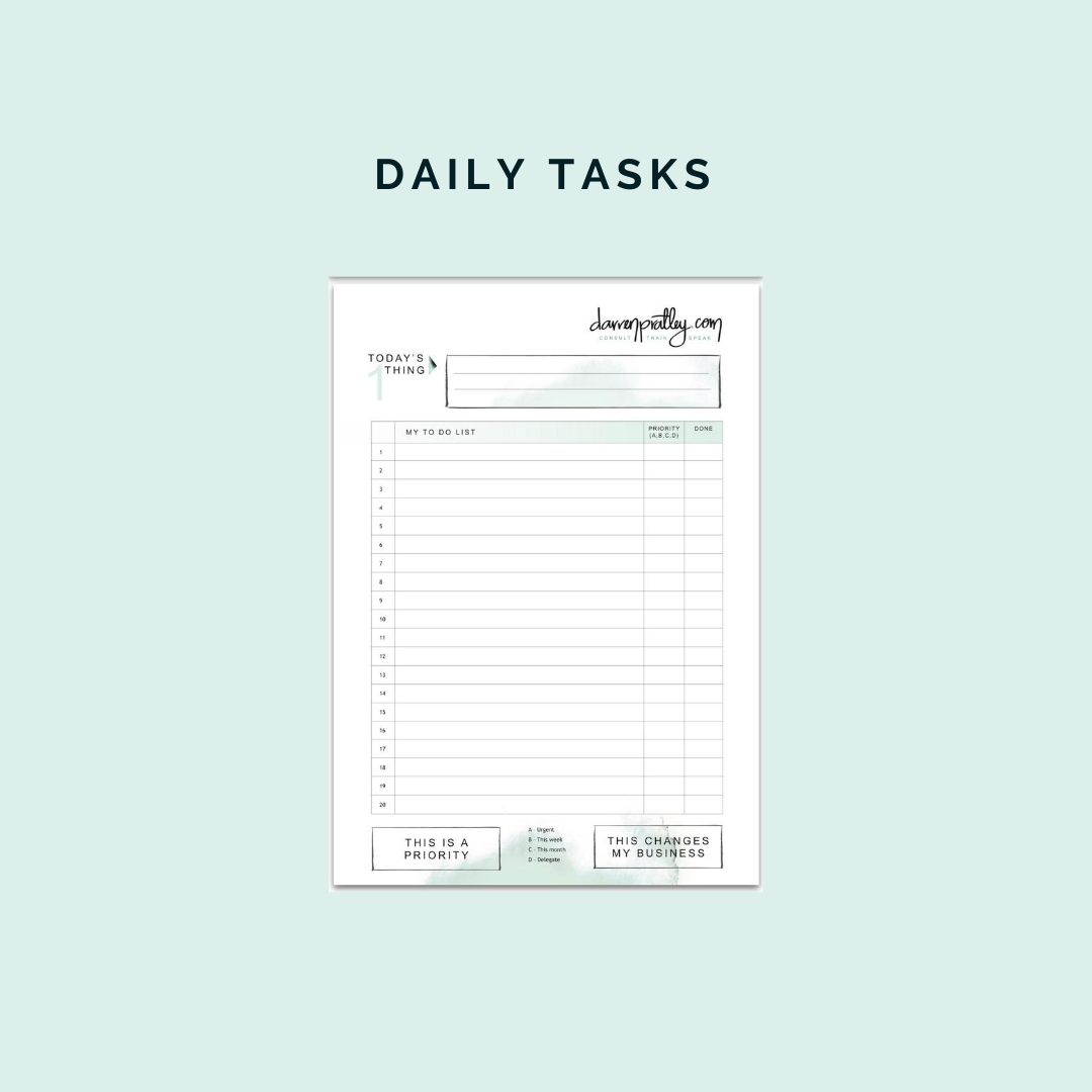 Daily Tasks - to do list