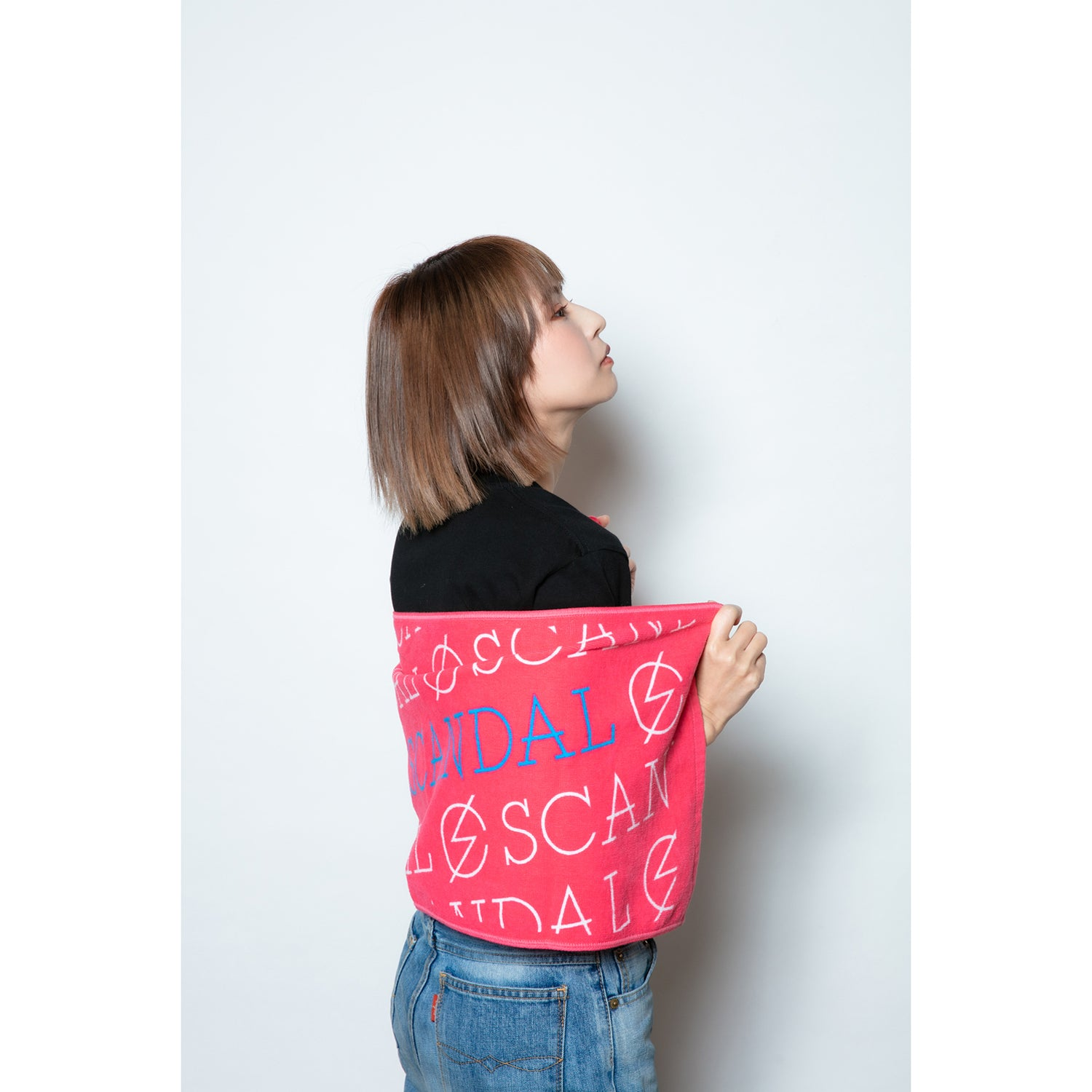 Scandal Band Logo Towel Pink