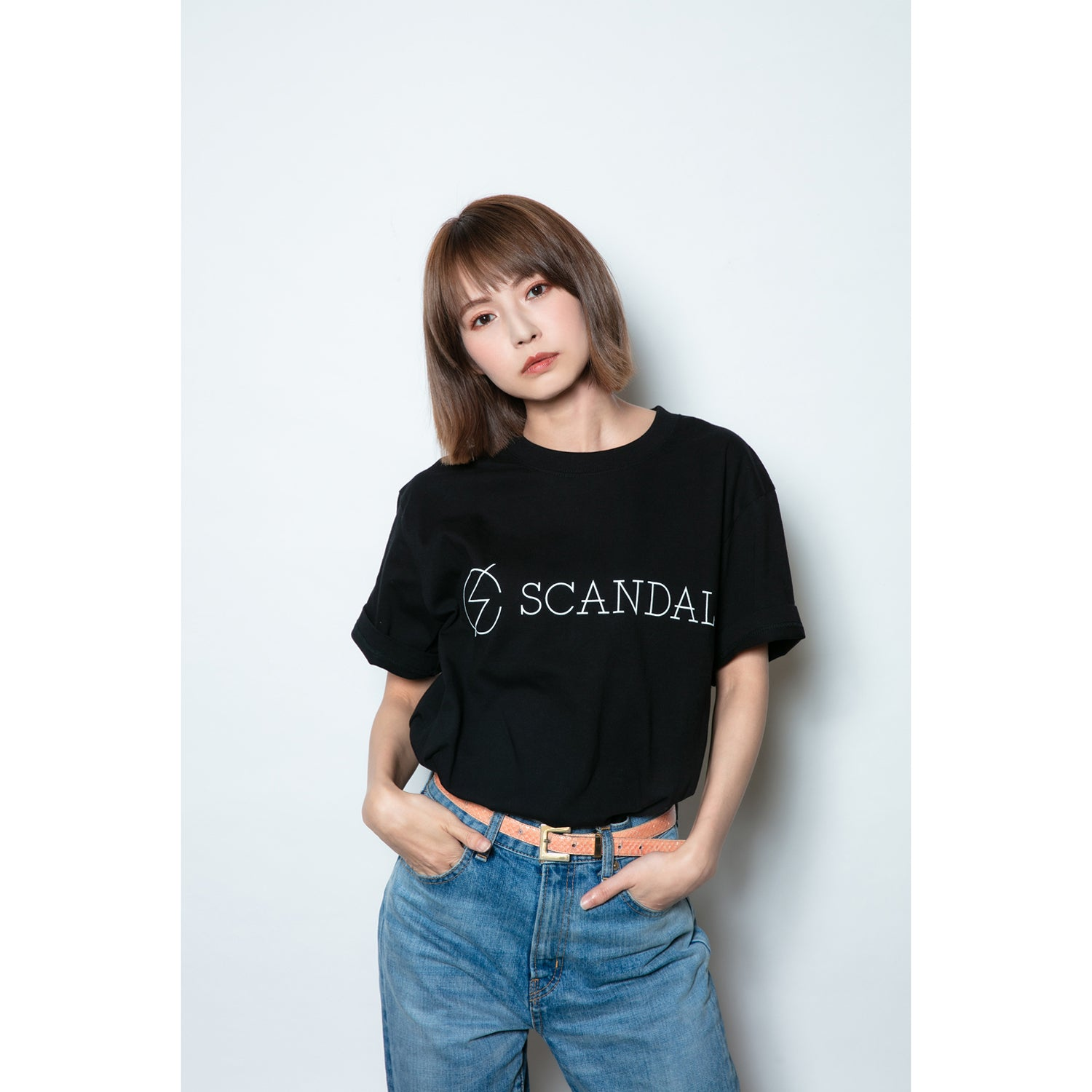 Scandal Basic Logo Tee Black
