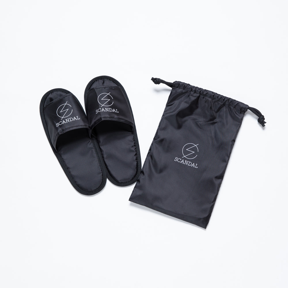 Scandal Logo Slippers Black