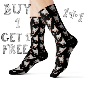Buy 1 Get 2 Custom Pet Socks (Free shipping)