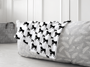 Pug dog silhouette soft pet blanket