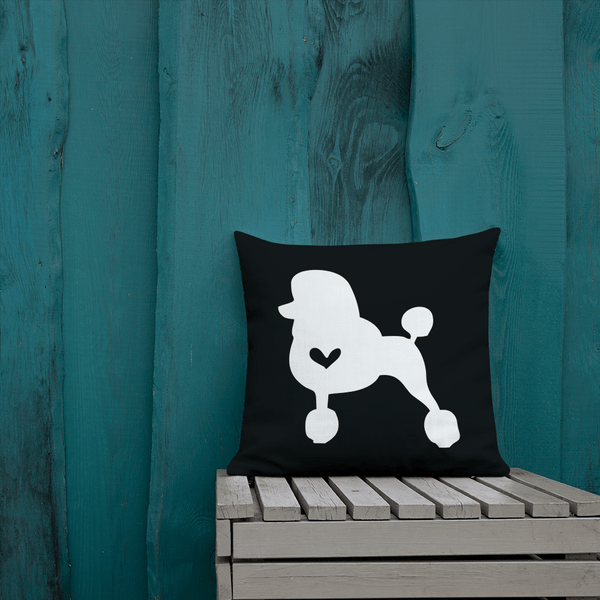 Poodle Dog Custom Pillow