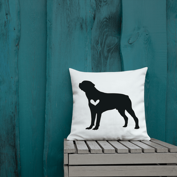 Rottweiler Dog Custom Pillow