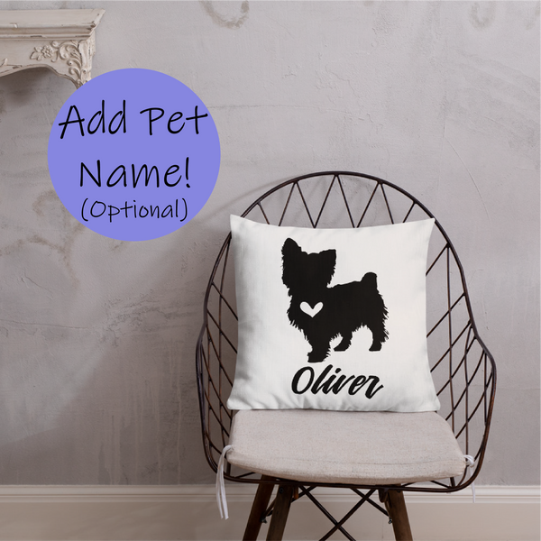 Yorkshire Terrier Dog Custom Pillow