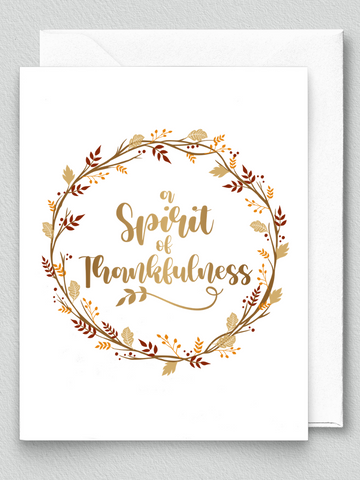 Spirit of Thankfulness