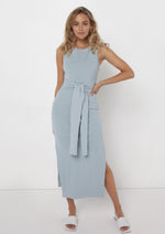 Load image into Gallery viewer, Madison the Label Ange Midi Dress Blue - Vida Boutique Inc.