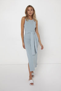 Madison the Label Ange Midi Dress Blue - Vida Boutique Inc.
