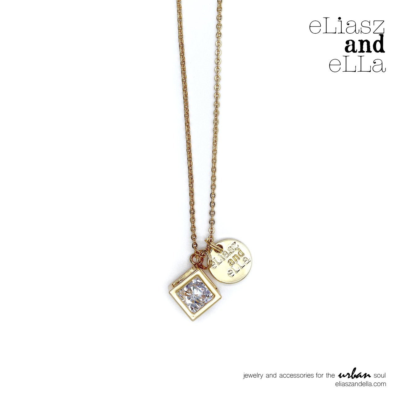 eLiasz and eLLa Caged Diamond Gold Necklace - Vida Boutique Inc.