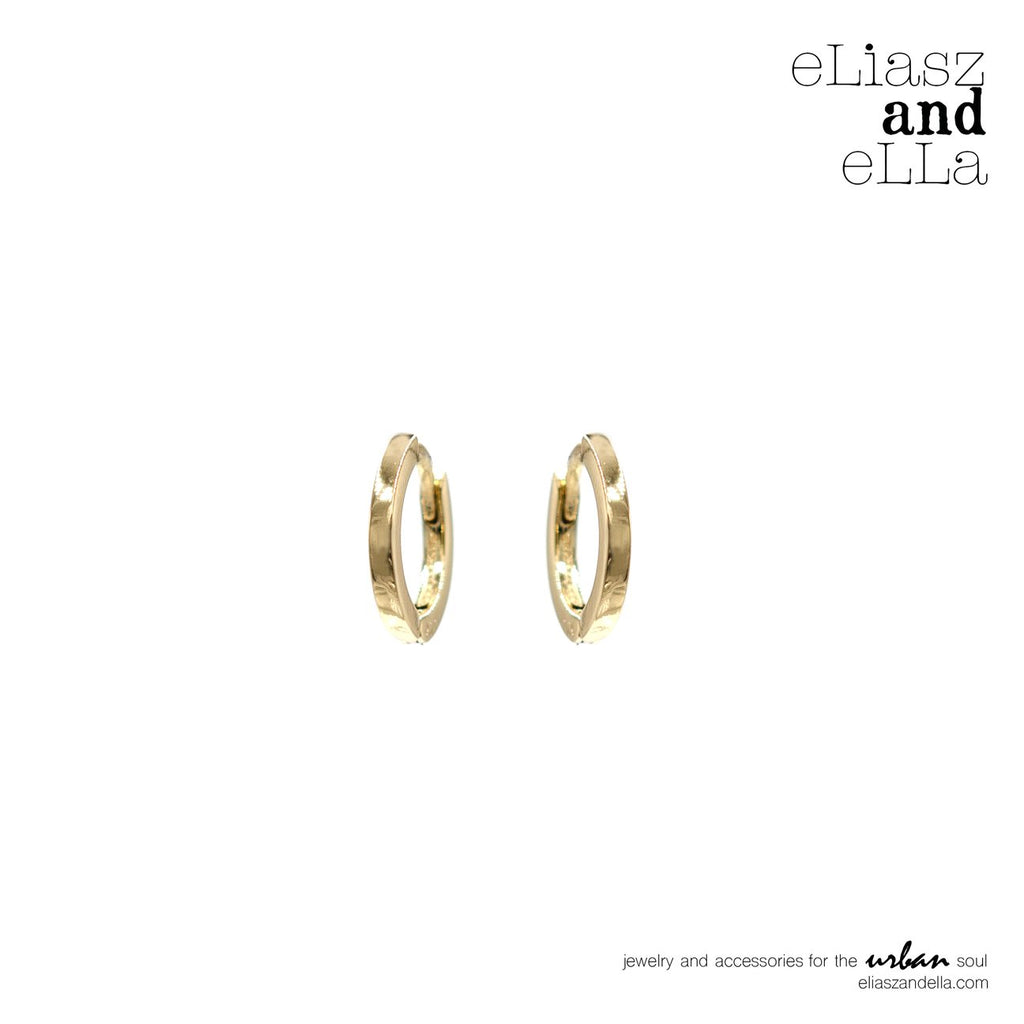 eLiasz and eLLa Classic Gold Huggie Hoops Earrings - Vida Boutique Inc.