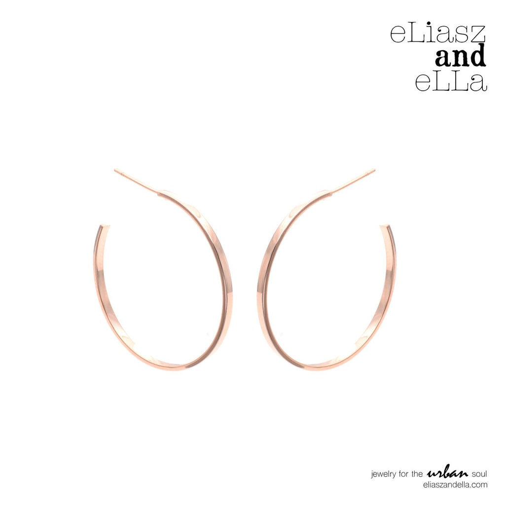 "eLiasz and eLLa Rose Gold ""Classic"" Hoops 2.0 - Vida Boutique Inc."