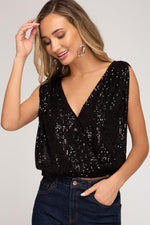 Load image into Gallery viewer, The Catalina Sequins Top - Vida Boutique Inc.